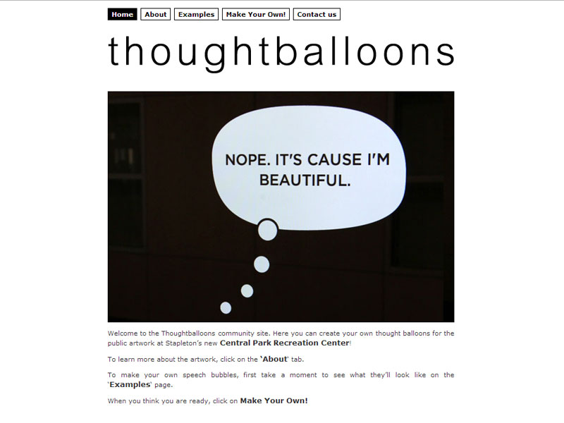 Thoughtballoons Website is online