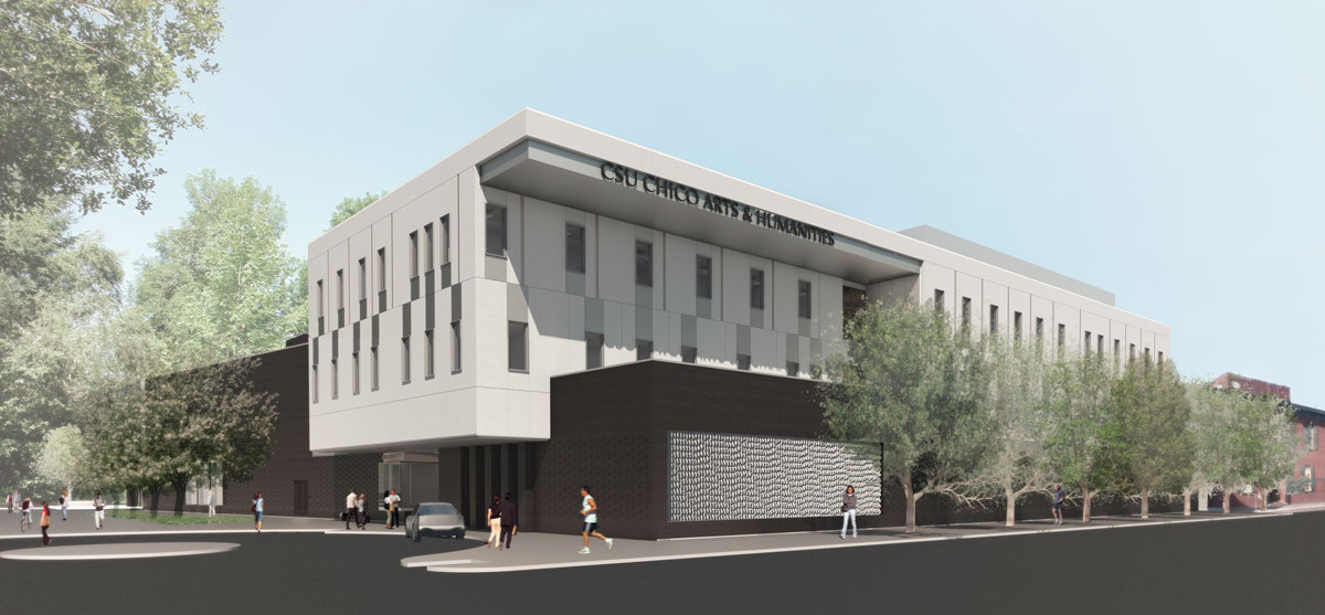 overall view of new arts and humanities building