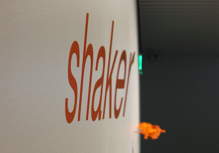 The Shaker logo undistorted